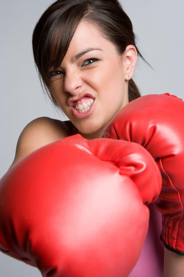 恼怒的拳击手 免版税库存图片