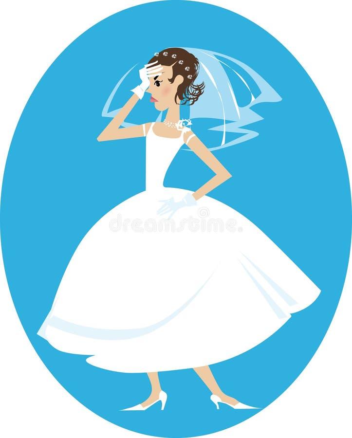 恼怒的新娘 向量例证