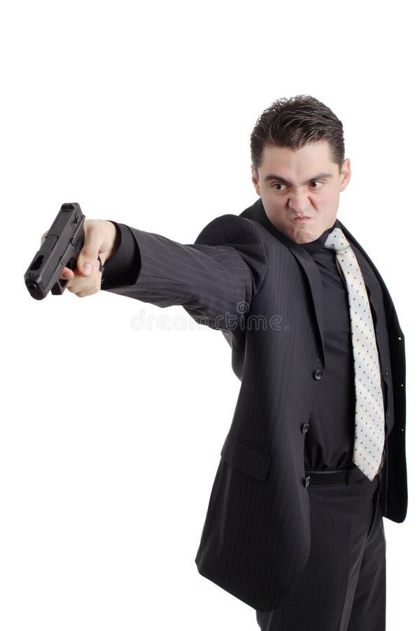 恼怒的枪人员 库存照片