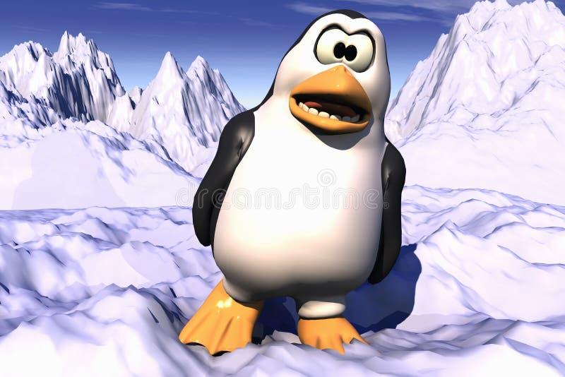 恼怒的查找的企鹅 向量例证
