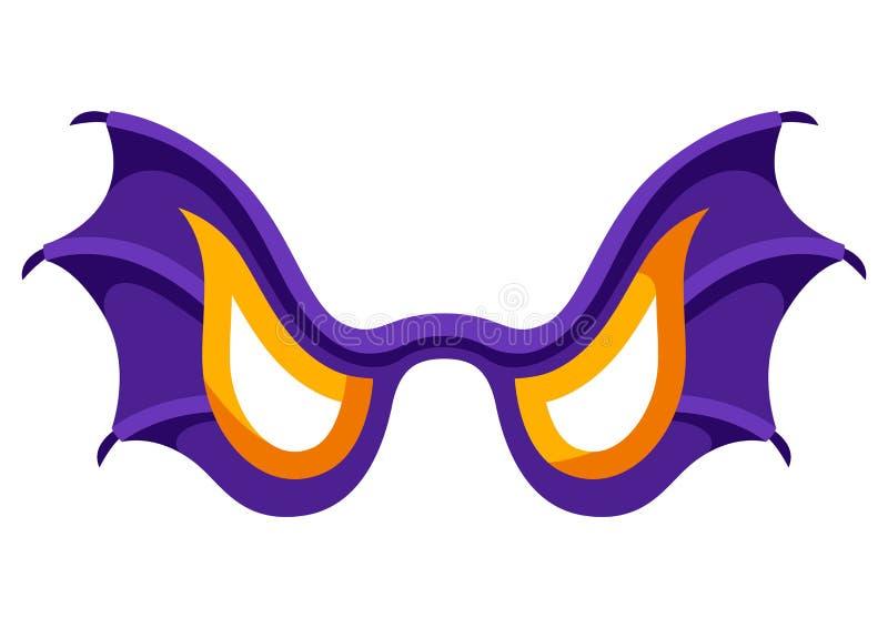 恼怒的棒翼面具的愉快的万圣节例证 皇族释放例证
