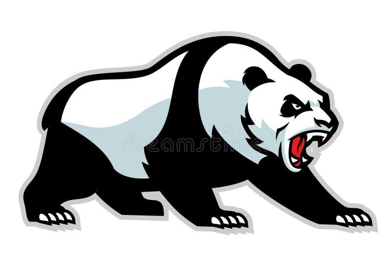 恼怒的熊猫吉祥人 皇族释放例证