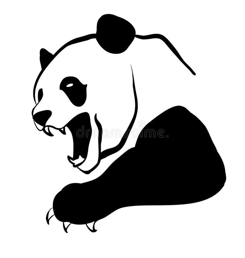 恼怒的熊猫 库存例证