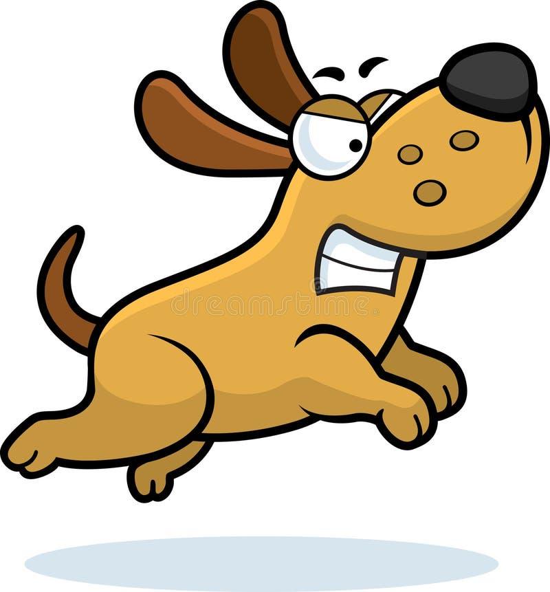 恼怒的狗一点 向量例证