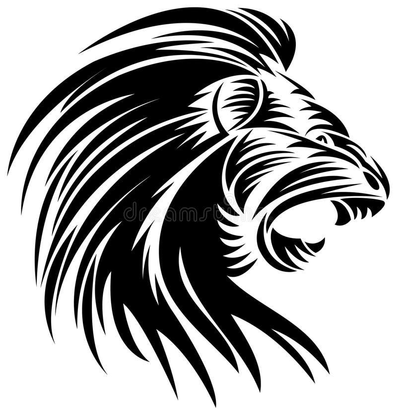 恼怒的狮子 皇族释放例证
