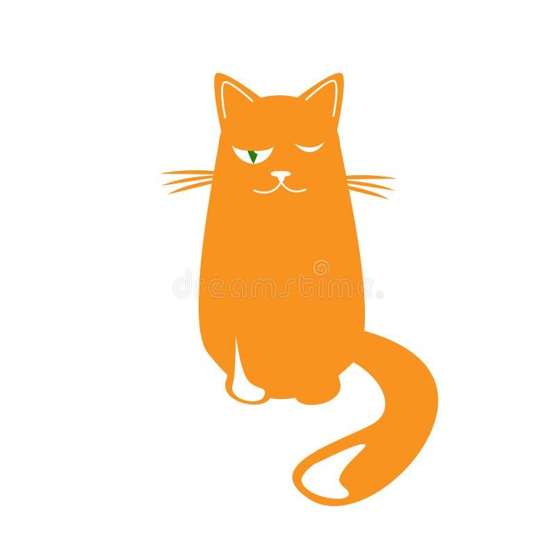 恼怒的猫 动画片司令员枪他的例证战士秒表 逗人喜爱的脾气坏的猫 向量例证