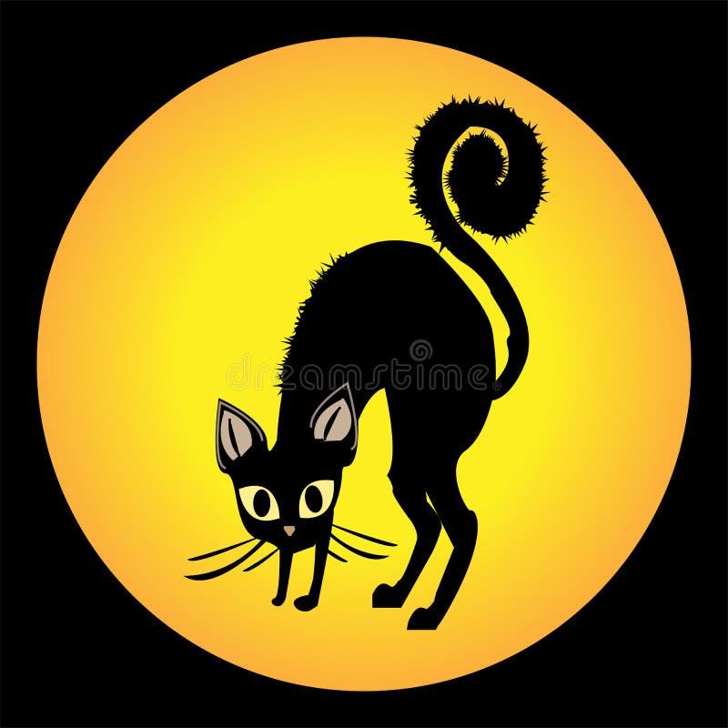 恼怒的猫 皇族释放例证