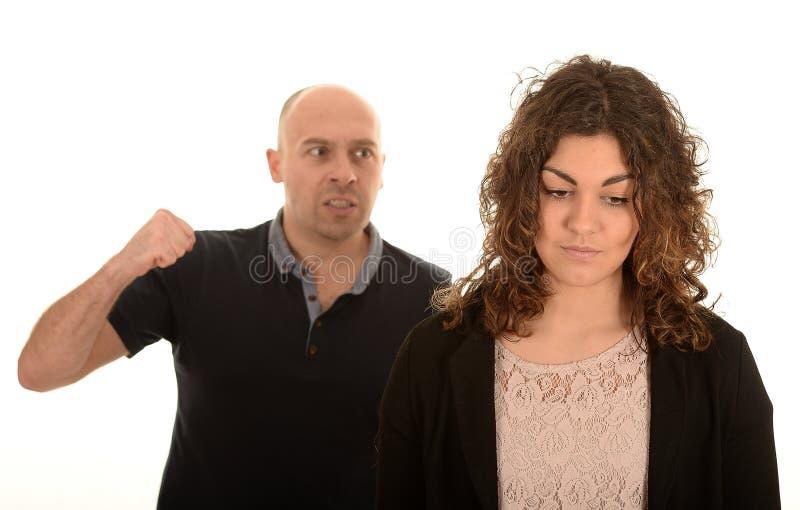 恼怒的男人和妇女 图库摄影