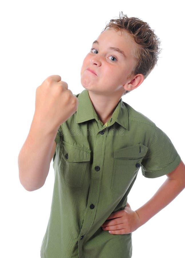 恼怒的男孩一点 免版税图库摄影