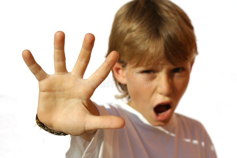 恼怒的男孩儿童孩子 免版税图库摄影