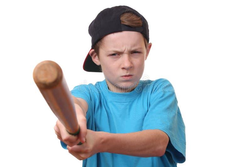 恼怒的男孩 免版税图库摄影