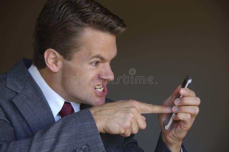 恼怒的移动电话 库存图片