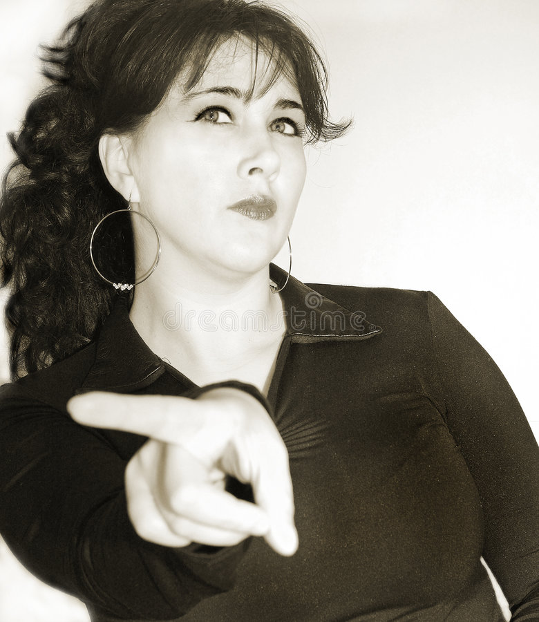 恼怒的表达式脸面护理妇女 免版税库存照片