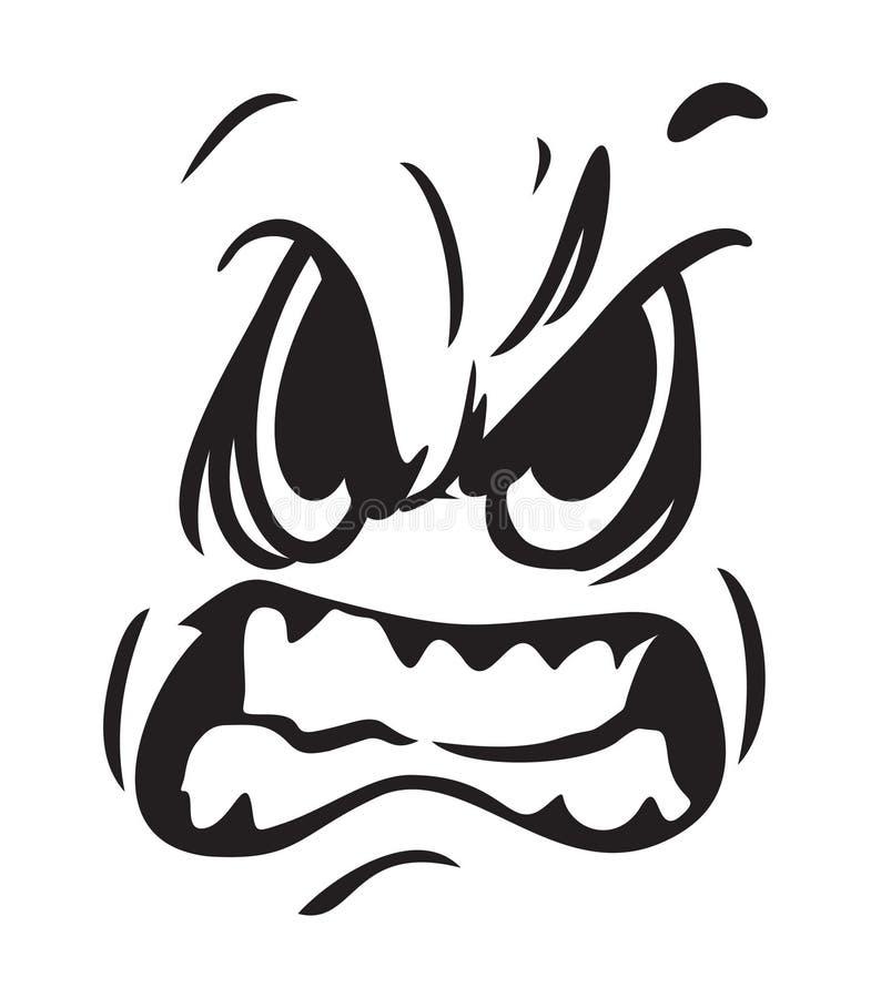 恼怒的表面例证向量 向量例证