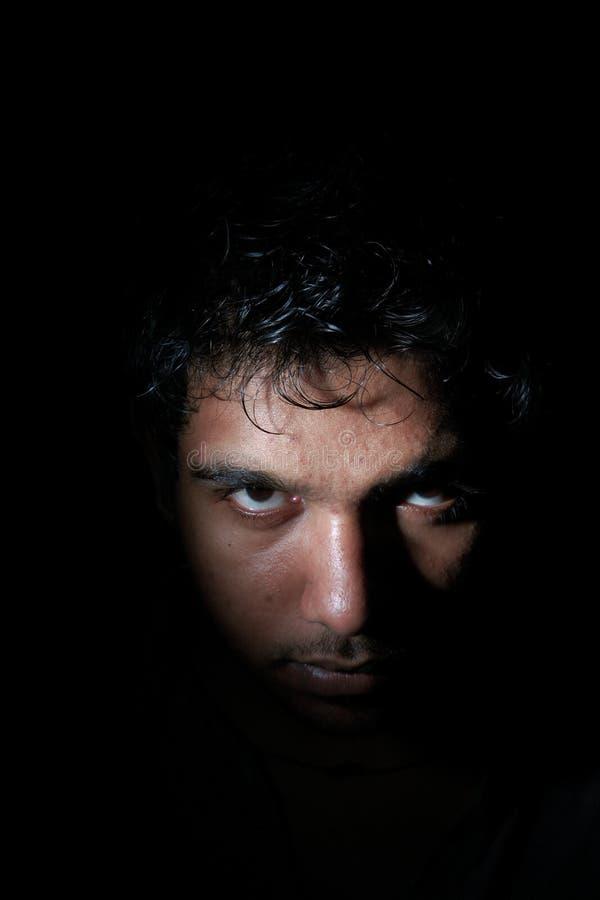 恼怒的黑暗人 免版税图库摄影