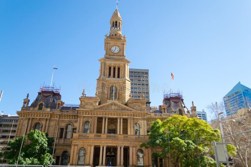 悉尼城镇厅  免版税库存图片