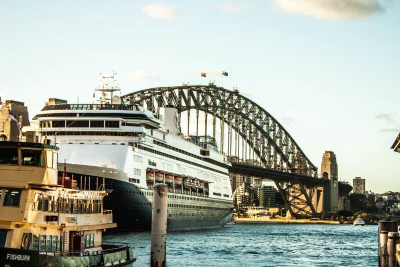 悉尼小游艇船坞桥梁 库存图片