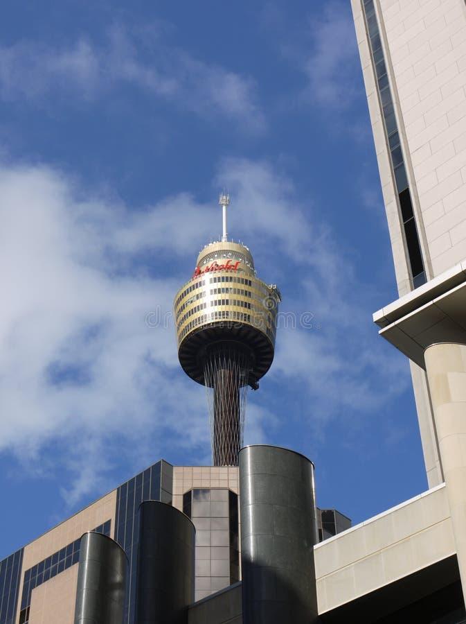 悉尼最高的塔有skydeck的 库存照片