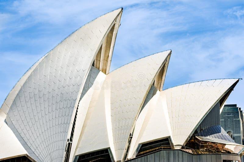 悉尼歌剧院,屋顶细节 免版税库存照片