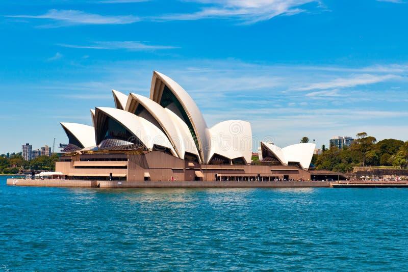 悉尼歌剧院,歌剧院非凡形状  库存照片