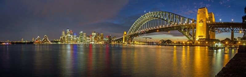 悉尼港口全景 免版税库存照片