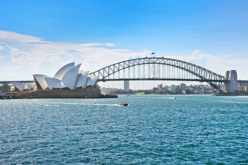 悉尼港口看法  图库摄影