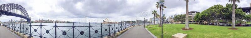 悉尼港口,澳大利亚惊人的全景  免版税库存图片