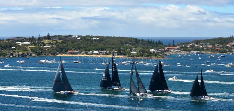 悉尼霍巴特游艇况赛2013年 免版税库存图片