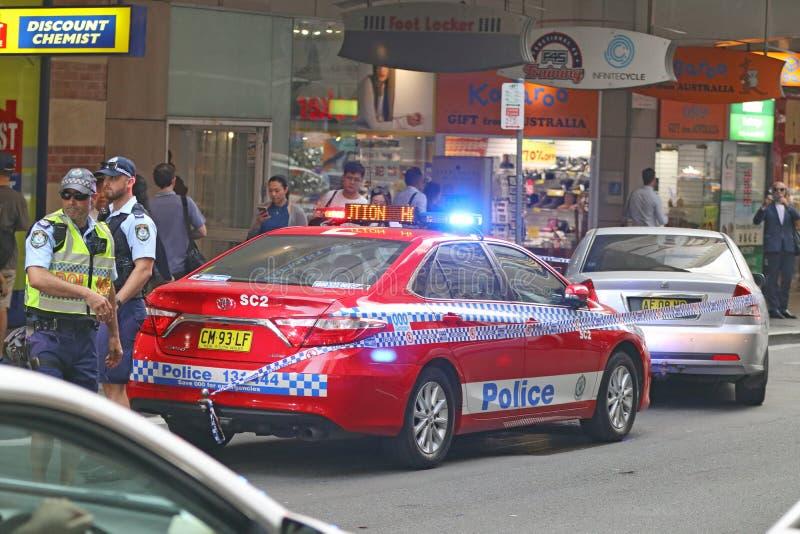 悉尼,澳大利亚-警察干预 免版税库存图片