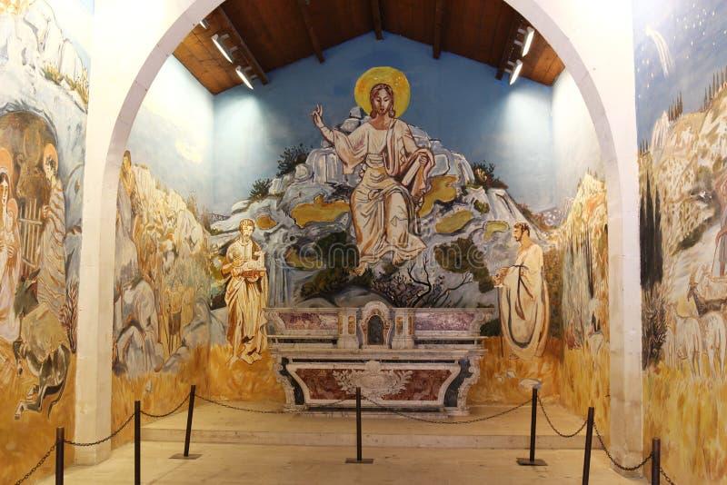 悔罪者的教堂内部,列斯Baux de普罗旺斯,法国 库存照片