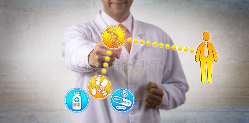 患者关联的基因构成有药物的 免版税库存照片