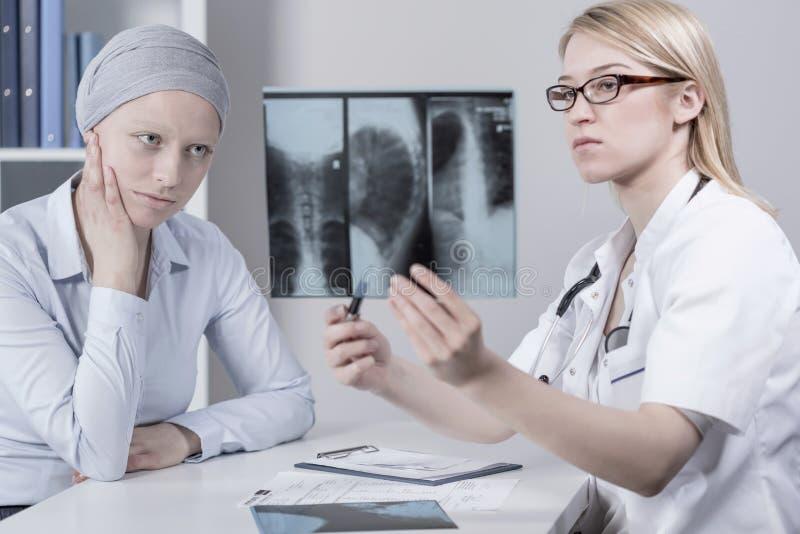 患者和肺癌 免版税库存图片