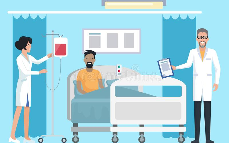 患者在传染媒介例证的医房 皇族释放例证