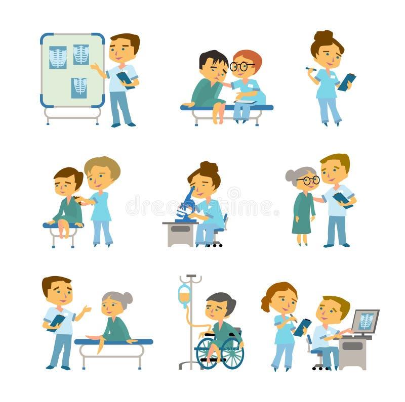 患者在s医生办公室 传染媒介医学例证 库存例证