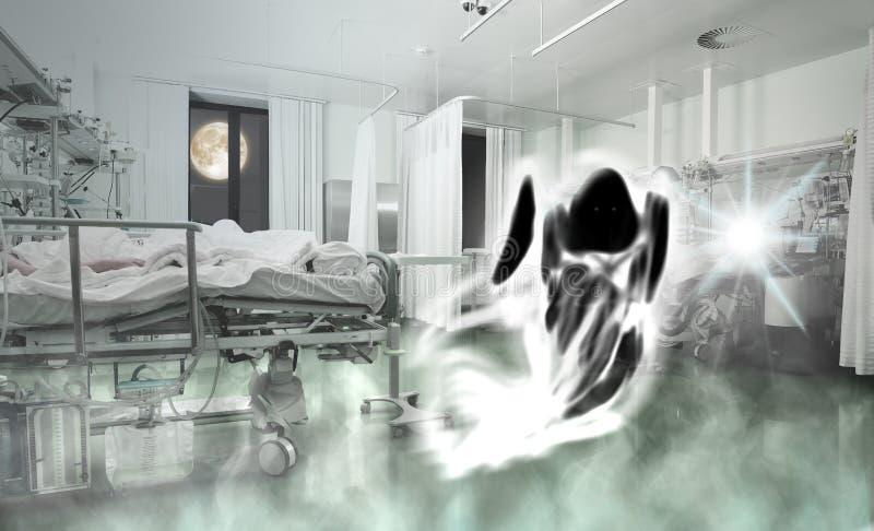 患者幽灵在病区里 免版税库存图片
