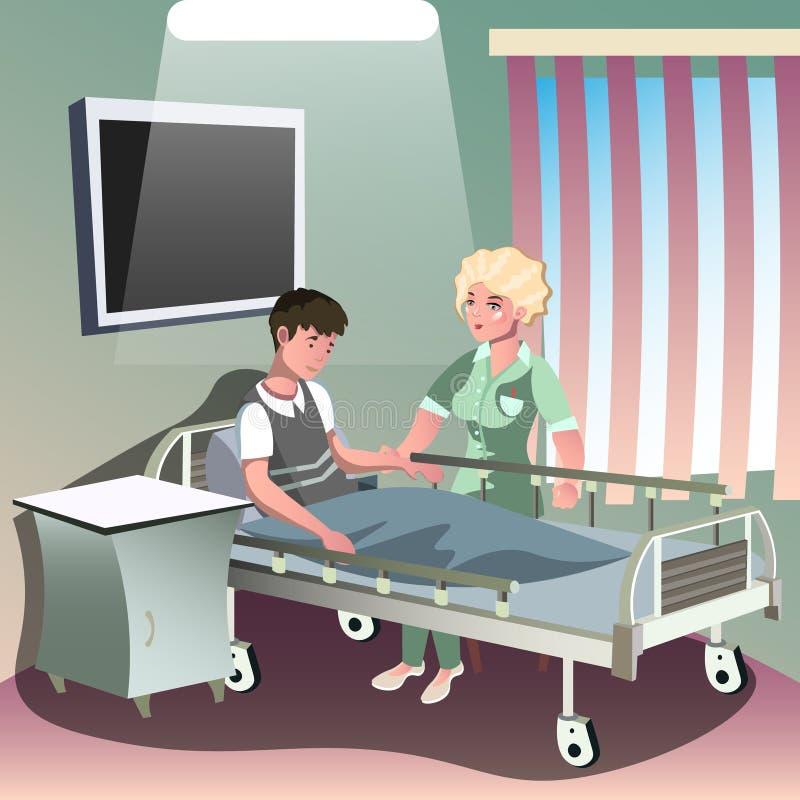 患者的住院治疗 向量例证