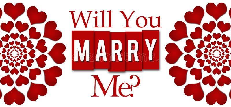 您与我结婚圆红色的心脏 皇族释放例证