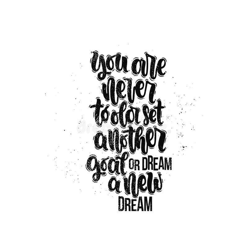 您从未是对老集合另一个目标或作一个新的梦 库存例证