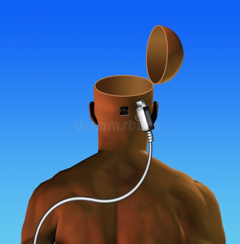 您头脑的插件 库存例证
