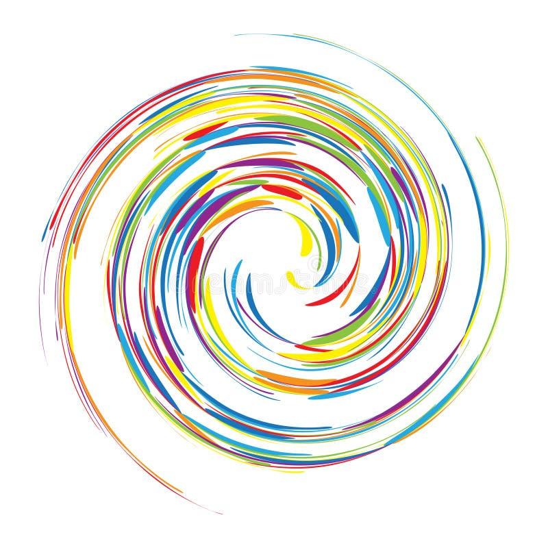您抽象背景设计的漩涡 库存例证