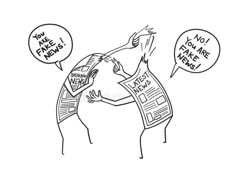 您是假新闻动画片例证 向量例证