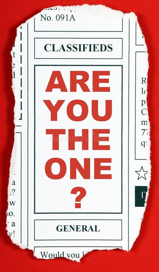 您是否是那个? 免版税库存图片