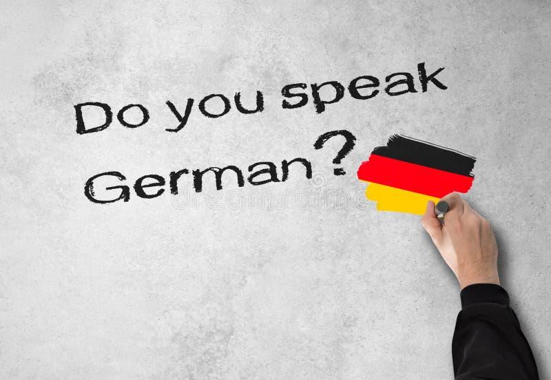 您是否讲德语? 免版税图库摄影