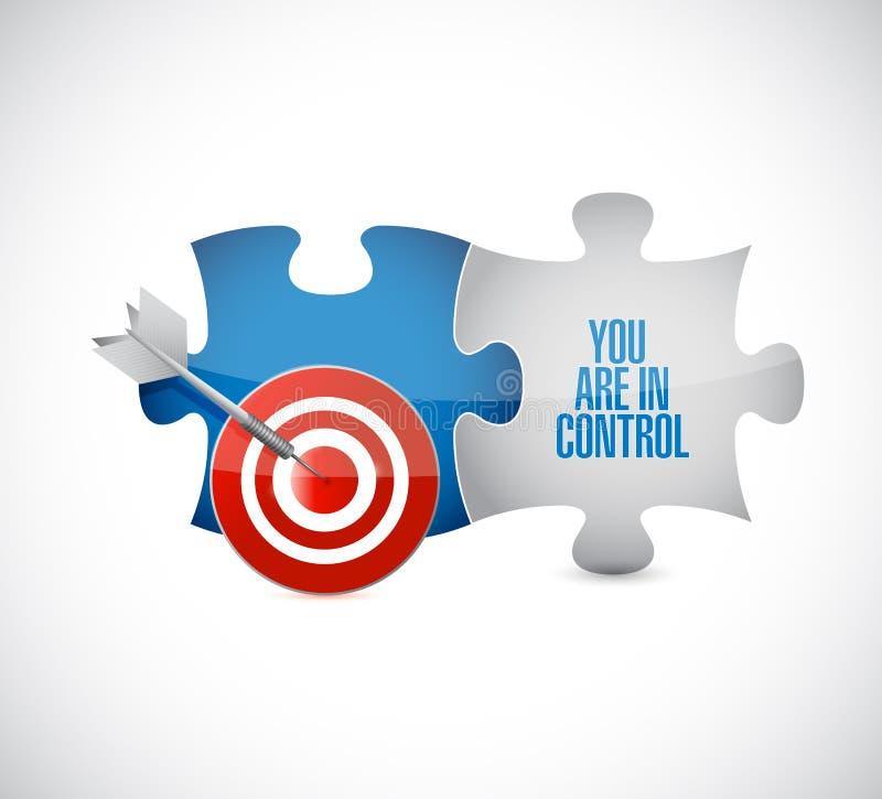 您是在控制目标难题片断消息 向量例证