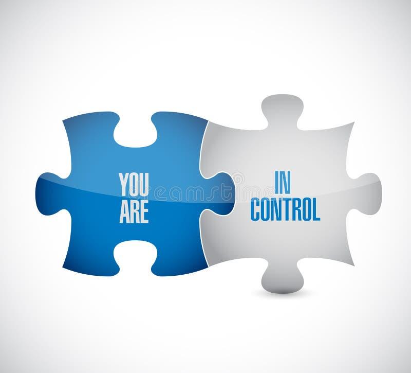 您是在控制难题片断消息概念 向量例证