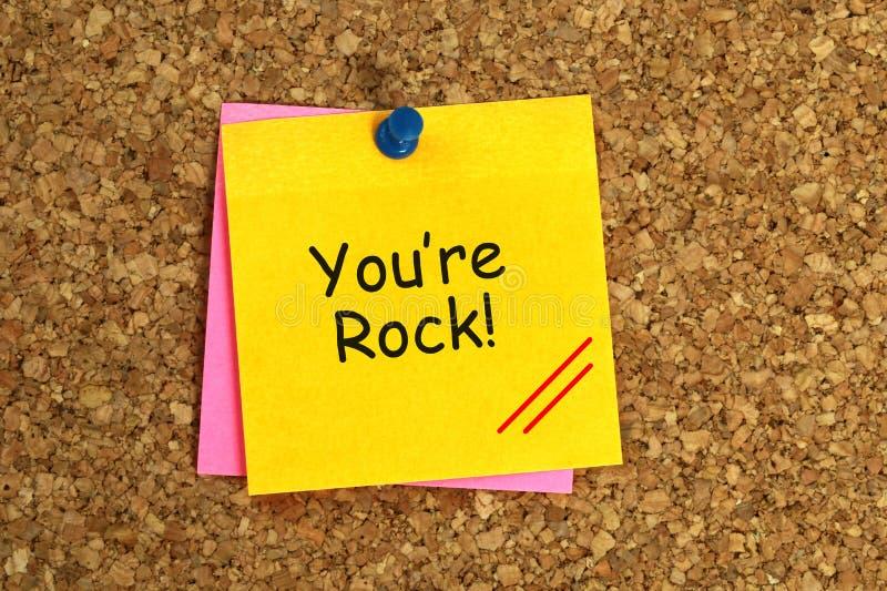 您是岩石 免版税图库摄影
