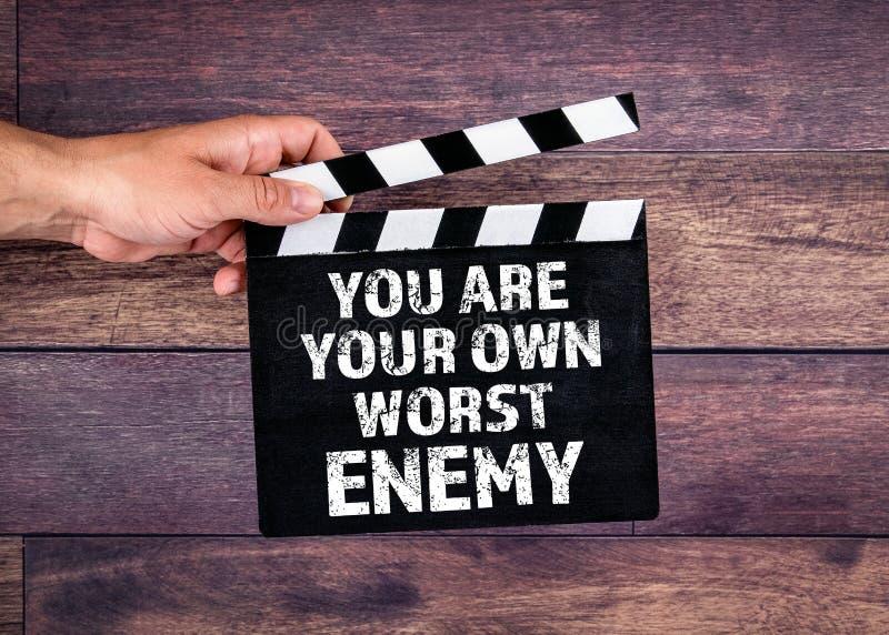 您是您自己的最坏的敌人 库存照片