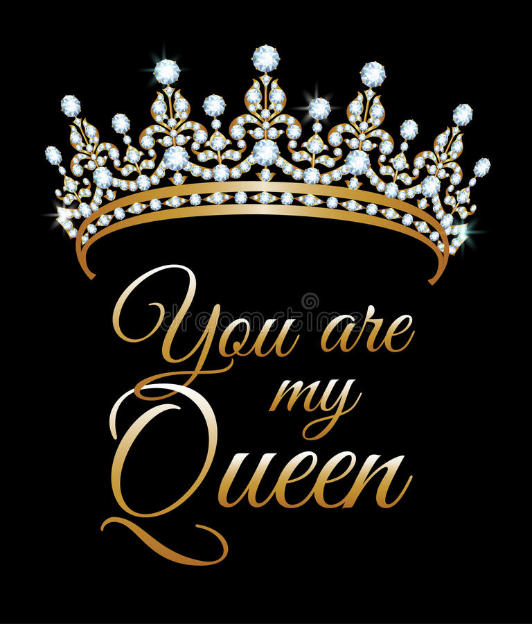 您是我的女王/王后 库存例证
