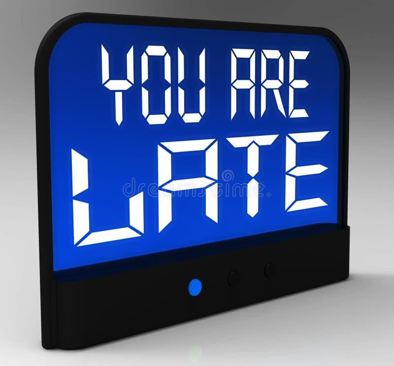 您是延迟消息显示迟慢的和迟滞 皇族释放例证