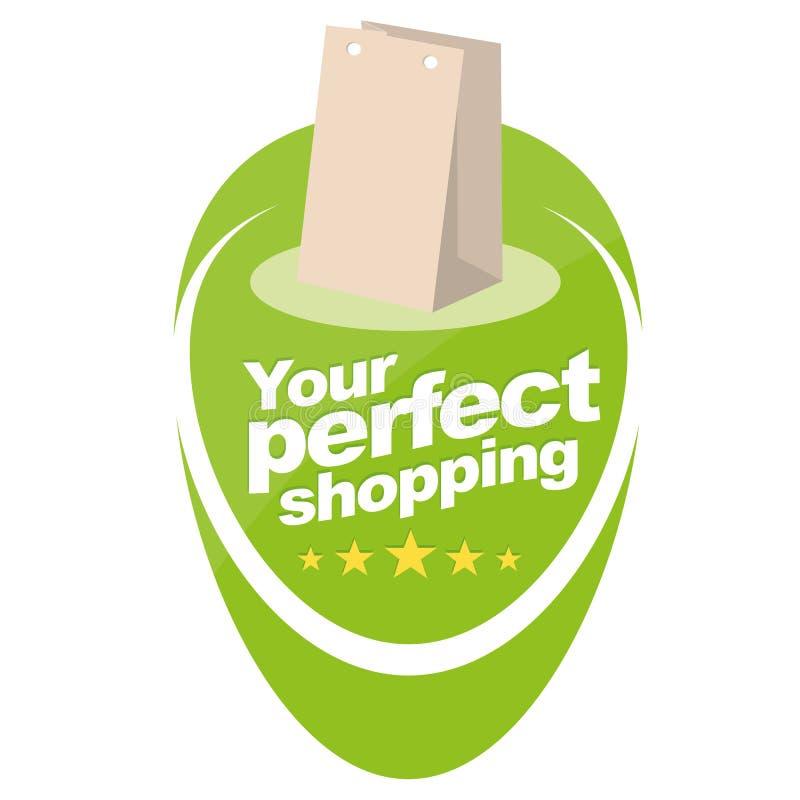 您理想的购物 库存例证
